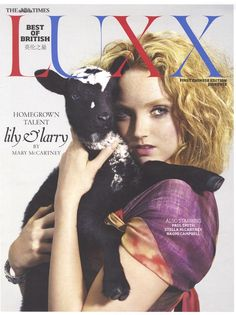Lily Cole covers The Times Luxx (July 12). Ph. Mary McCartney