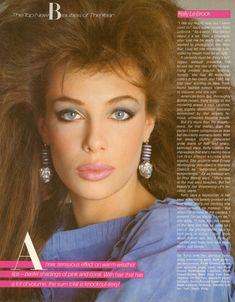 Kelly LeBrock the hair, the makeup!