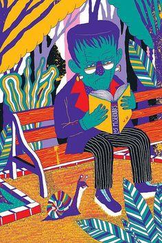 Lee Frankenstein a los clásicos… los lees tú? (ilustración de Santiago Solís Montes de Oca)