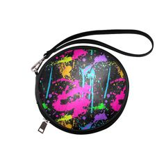 Wet Paint Color Splash Round Makeup Bag (Model 1625)