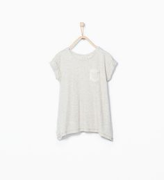 Shiny pocket T-shirt-View all-T-shirts-Girl (3-14 years)-KIDS | ZARA United States