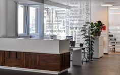 Leitsystem für das neue Caritas Haupthaus in Graz Buffet, Divider, Cabinet, Space, Storage, Room, Furniture, Design, Home Decor