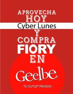 Aprovecha el CYBERLUNES y compra FIORY en http://geelbe.com/, prendas desde 9.900