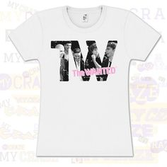 THE WANTED BOY BAND TW OFFICIAL MERCHANDISE WHITE COTTON T-SHIRT #TheWanted #GraphicTee #BoyBand