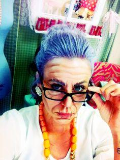 Old lady Halloween makeup www.labeelindsay.com