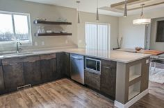 Slab cabinetry, open shelving, Urban Prairie Homes New Builds, Open Shelving, Homes, Urban, Kitchen, Home Decor, Houses, Cooking, Decoration Home
