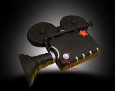 antique movie camera cake / tarta cámara de cine antigua
