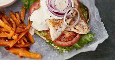 Skinny burger ja bataattiranskalaiset   Liharuoat   Reseptit   Reseptit ja menut   Stockmann.com