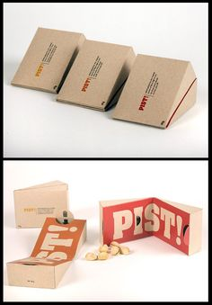 This packaging is design for nuts. It's a clever design because there are two boxes to combine in one pakaging box. The function is when we take the nuts from one box we can put the nuts shell in the other empty box. it will become a packaging and also a garbage bin for the nuts.