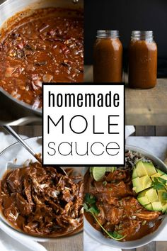 The Rise Of Private Label Brands In The Retail Meals Current Market Chicken Mole With Homemade Mole Sauce. For This Recipe And More Visit, Chicken Mole Recipe, Chicken Recipes, Sauce Recipes, Cooking Recipes, Healthy Recipes, Mexican Dishes, Mexican Food Recipes, Mexican Mole, Mexican Chicken Mole