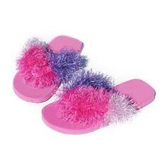 Fluffy flip flops(;