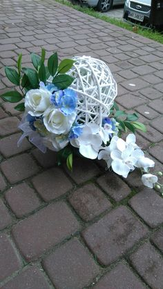 My Flower, Flower Art, Flower Power, Grave Flowers, Funeral Flowers, Artificial Floral Arrangements, Flower Arrangements, Flower Decorations, Wedding Decorations