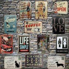 Multiple-Tipos-Cartel-Chapa-Muestra-Letrero-Metal-Nostalgia-Tin-Signs-Bar-Pub