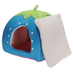 Blue soft strawberry pet dog/cat bed house kennel « Pet Lovers Ads