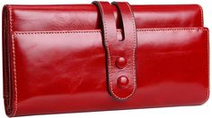 Heshe Women's Snap Closure Clutch Money Clip Card Holder Long Wallet *** Additional details at the pin image, click it  : Best Travel accessories for women