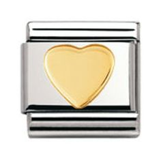 Maillon avec un coeur en or, un maillon classique qui fait fureur : http://www.ubbijoux.com/ps/nomination/2498-maillon-nomination-030116-02.html