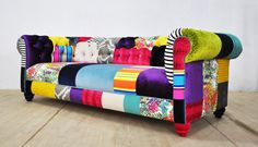 Chesterfield patchwork sofa - color palette by namedesignstudio on Etsy https://www.etsy.com/listing/252354624/chesterfield-patchwork-sofa-color