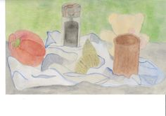 Year 7 Still Life observational paintings in watercolour and acrylic paint.