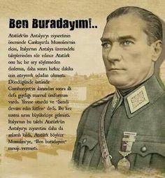 Sen hep burdasın bizimlesin Ata'mm... Minnetimiz, sevgimiz ve saygımız sonsuz sana iyiki bizim Ata'mızsın North Cyprus, Turkish Army, The Turk, The Valiant, Cultural Identity, Great Leaders, Chur, World Peace, World Leaders