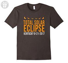 Mens Total Solar Eclipse Kentucky 8-21-2017 funny t-shirt 2XL Asphalt - Funny shirts (*Amazon Partner-Link)