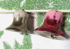 #Vintage Set Of 2 1940s #Christmas #Bell Ornaments by @Vintage Mama, $7.99