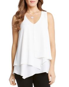 Karen Kane Layered Sleeveless Top | Bloomingdale's