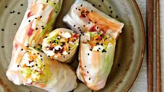 Fresh Rolls, Food Inspiration, Tapas, Sushi, Healthy Recipes, Healthy Food, Asian, Dinner, Cooking