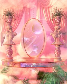 Aesthetic Space, Pink Aesthetic, Fantasy Places, Fantasy World, Beautiful Architecture, Beautiful Landscapes, Aesthetic Backgrounds, Aesthetic Wallpapers, Aphrodite Aesthetic
