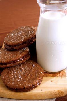 Cookie ideas! // Recipe for Nutella Chocolate-Hazelnut Sandwiches | DeLallo Recipes #dessert #baking #Nutella