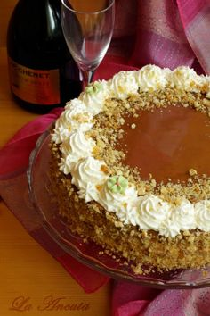 Tort cu nuca, mascarpone si caramel – La Ancuta Romanian Desserts, Caramel, Tiramisu, Biscuits, Sweet Treats, Ice Cream, Sweets, Candy, Baking
