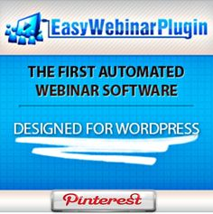 Easy Webinar Plugin is the first automated webinar software for WordPress http://skadoogle.com/go!630 the easiest solution for connecting with your audience and making sales. #easy #webinar #plugin #wordpress