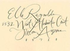 modern calligraphy via frolic