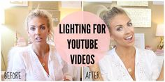 LIGHTING For YouTube Videos | Diva Ring Light, Box Lights & Background L...