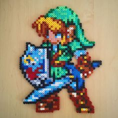 LoZ Link hama beads by rachrafferty