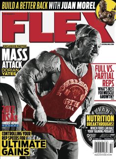Flex Magazine cover October 2012 featuring Dorian Yates #fitness #exercise #bodybuilding