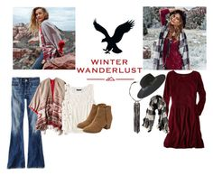"""Winter Wanderlust with American Eagle: Contest Entry"" by smileymary ❤ liked on Polyvore featuring American Eagle Outfitters and aeostyle"