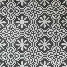 Historiske fliser VF 03 Svart-Hvit, Vakre håndlagde fliser, også kalt marokkanske fliser eller gammeldagse sementfliser i ypperste kvalitet.