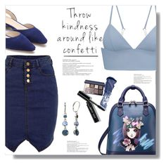 """""""Throw Kindess Around Like Confetti"""" by queenvirgo ❤ liked on Polyvore featuring WithChic, T By Alexander Wang, Bobbi Brown Cosmetics and Napier"""