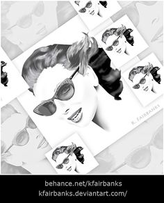 Digital painting of a woman in sunglasses by K. Fairbanks. Media: Photoshop. View additional art by K. Fairbanks at http://graphics.ms11.net/index.html  #Art #DigitalArt #Photoshop