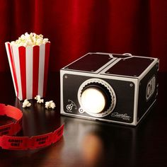 They may not be all too familiar with a drive-in movie theater, but teens can replicate the same fun in their own bedroom, watching video clips from their phone.  $31.95, uncommongoods.com