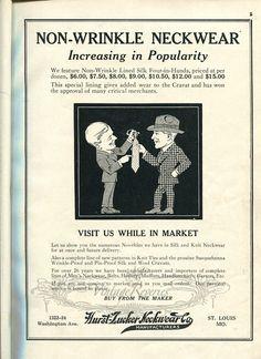 #neckwear #ties #mensfashion #menswear #stl #stlouis #1920s #oldads #index #history #fashion #fashionhistory #b2b #marketing #advertising