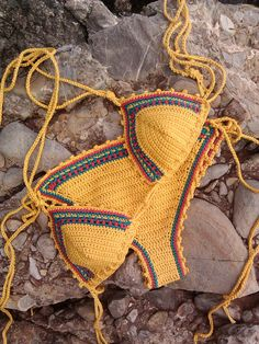 Jamaica Bikini Triangle Crochet Bikini by GoodMoodCreations