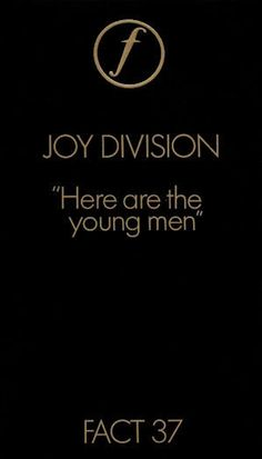 FACT 37 JOY DIVISION: Here are the Young Men Aug 82  VHS - First edition in flip-top packaging.