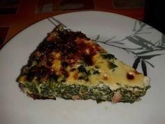 Quiche de espinacas sin masa