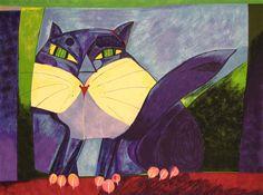 Espaço Arte M. Mizrahi  Gato Azul Artista (Ver biografia)     Aldemir Martins (1922 - 2006)