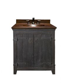 30 Inch Single Sink Bath Vanity With Copper Top
