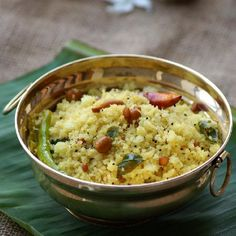 'Rava Pulihora' - An easy, tangy, flavorful and traditional festive recipe from South India. Made with broken rice, tamarind and simple spices