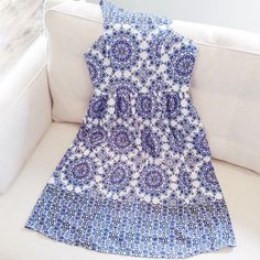 Blue and white tile dress.