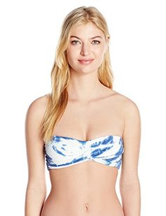 76bc84f2bd728 Lucky Brand Women's Fireworks Tie Dye Twist Bandeau Bikin... Bandeau  Bikini, Bikini