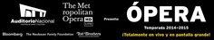 CINÉPOLIS Cinco Grandes Obras  de la Temporada 2014-2015 Desde el MET - http://masideas.com/2014/10/12/cinepolis-cinco-grandes-obras-de-la-temporada-2014-2015-desde-el-met/